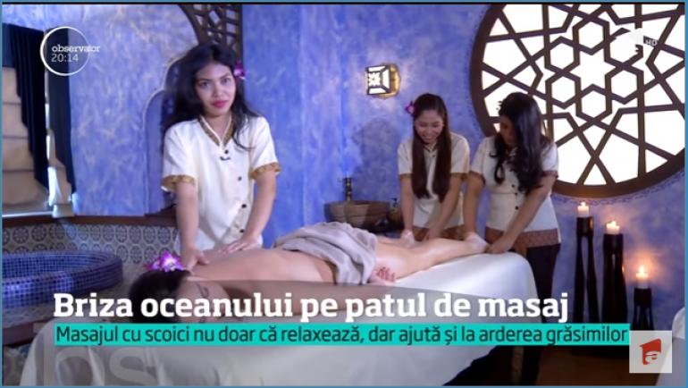 Masajul cu scoici este noul răsfăţ preferat al românilor